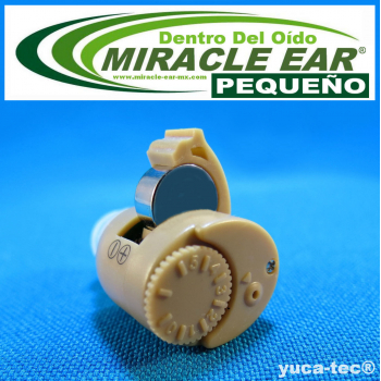 MIRACLE EAR® Aparato Auditivo PEQUEÑO Batería Dentro del Oído