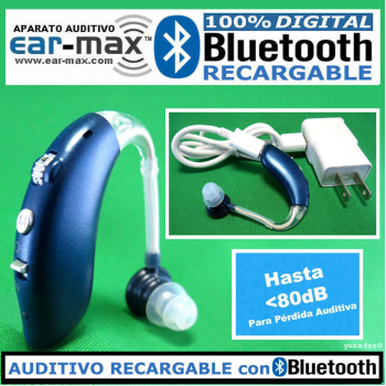 EAR MAX® BLUETOOTH RECARGABLE - Aparato Auditivo 100% DIGITAL