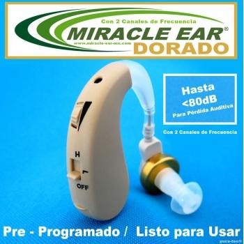MIRACLE EAR® DORADO Aparato Auditivo Con 2 Canales de Frecuencia