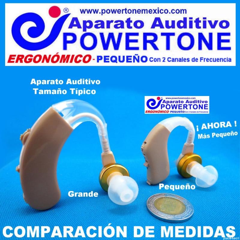 POWERTONE® ERGONÓMICO Pequeño - con 2 Canales de Frecuencia - Aparato Auditivo Auxiliar