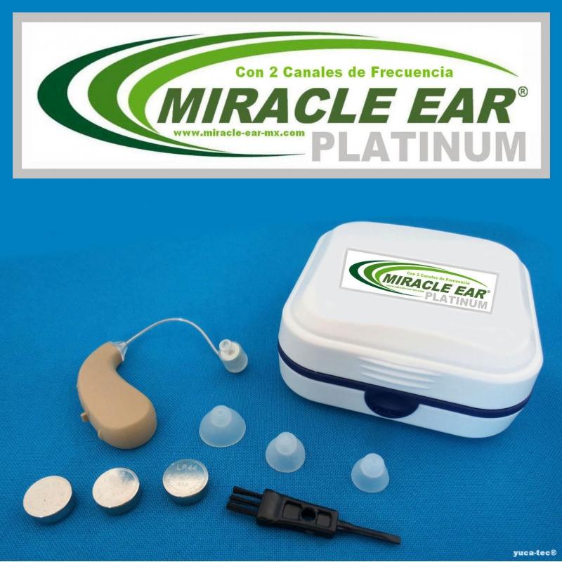 MIRACLE EAR® PLATINUM Aparato Auditivo Discreto Con 2 Canales de Frecuencia