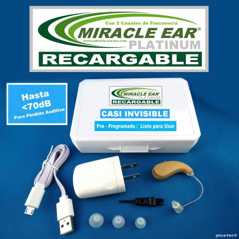 MIRACLE EAR® PLATINUM RECARGABLE Aparato Auditivo Con 2 Canales de Frecuencia