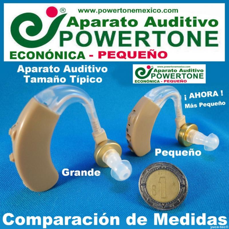 Paquete de 2 - POWERTONE® ECONÓMICA Pequeño - Aparato Auditivo Auxiliar